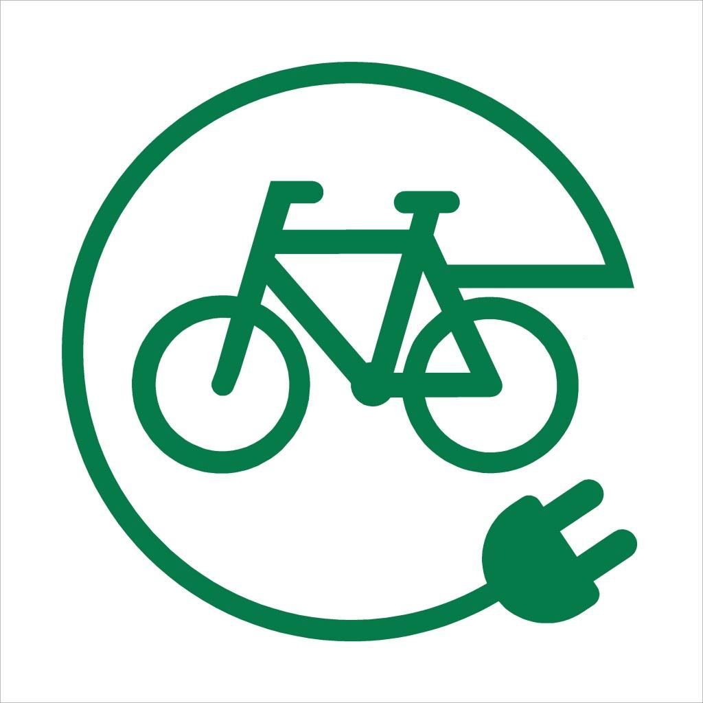 Oplaadpunt elektrische fiets pictogram bord