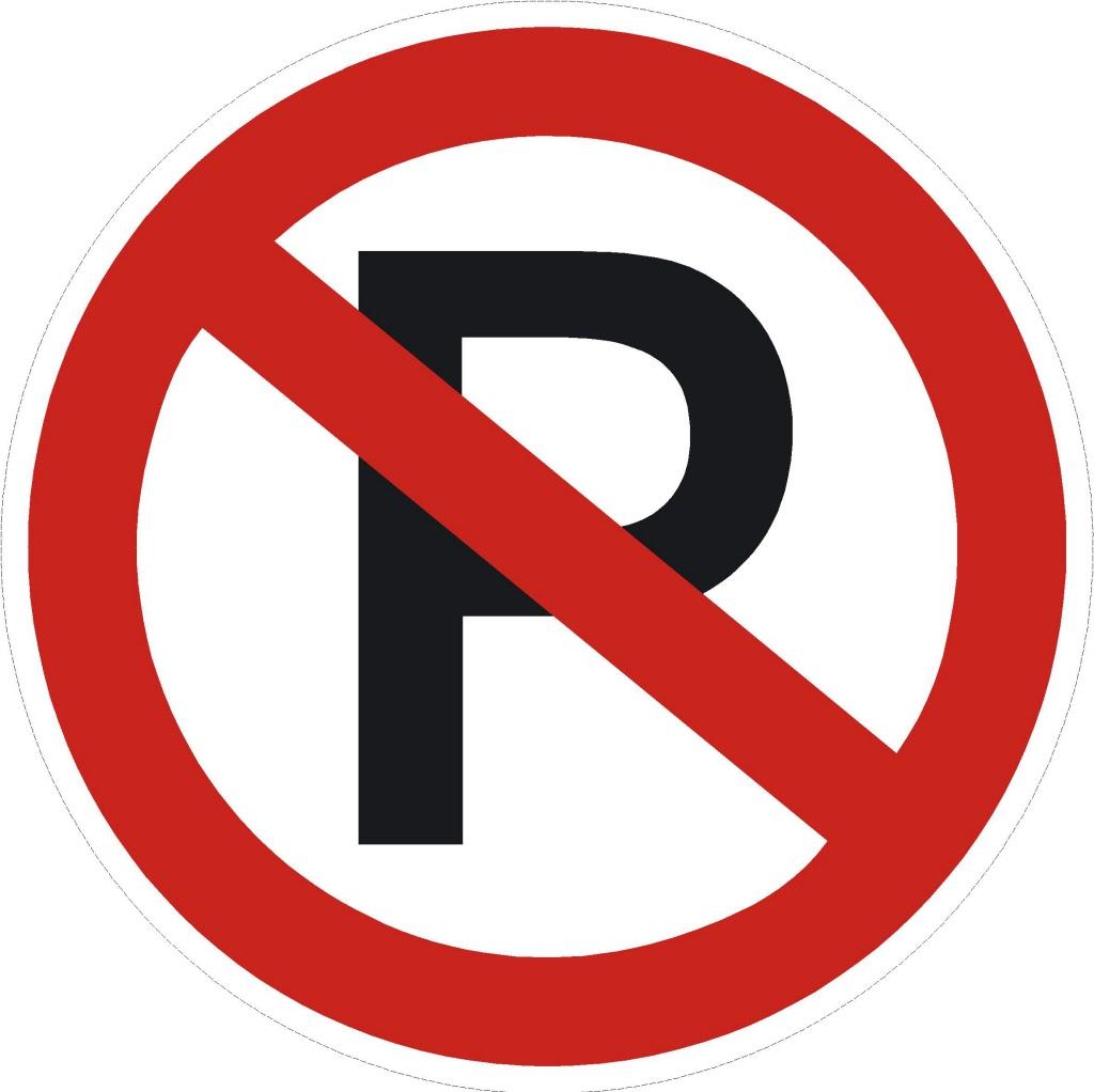 Rond 20cm parkeren verboden s