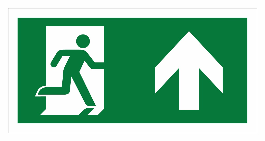 Vluchtweg pictogram volgens de nieuwe Europese richtlijnen: shop.letterplex.nl/contents/nl/d100_Vluchtwegaanduiding.html